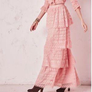 💗 LoveShackFancy Pink Harriet Skirt. 💗